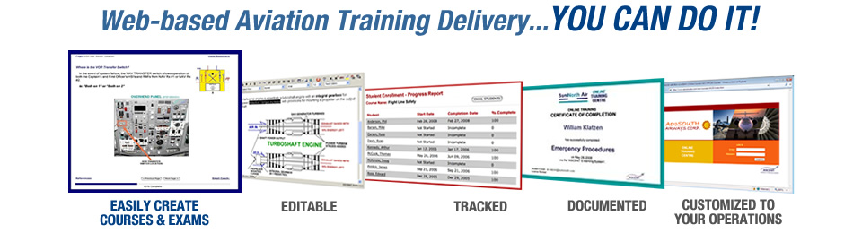 Web based Aviation Training Delivery